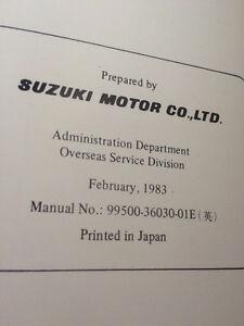 1983 Suzuki Factory GR650 Service Manual Regina Regina Area image 3