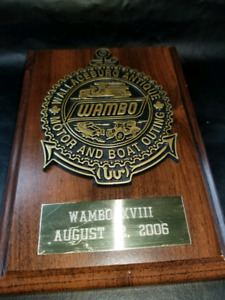 2006 Wallaceburg Motor and Boat Show plaque