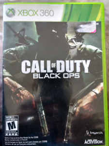 Xbox Black Ops Call of Duty