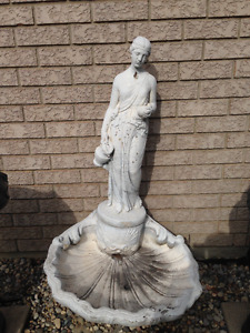 concrete lady fountain
