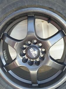 "16"" Goodyear winter tires & Raceline 126 black rims"