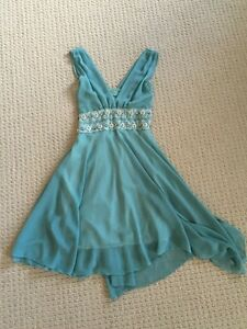 New Turquoise Sleeveless Dress