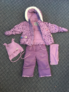 12 Months Girl's Snow Suit