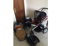 Quinny and maxi cosi travel system pram stroller car seat isofix base £130