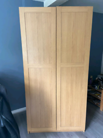 Double doors Wardrobe,clothes rail,shelves,solid,firm&good condition