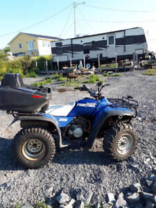 Honda 300 Plow/ Custom Trailer and Bike Have Papers