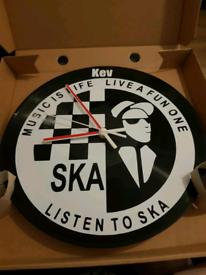 SKA, vinyl record clock, personalised gift, Christmas, birthdays