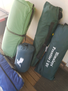 Camping gear - swag and tent