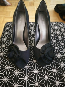 Nine West black high heels size 7