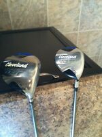 Cleveland launcher driver and 3 wood, golf clubs