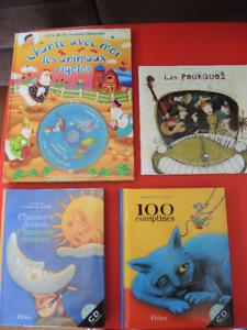 Lot de livres-cd pour enfant