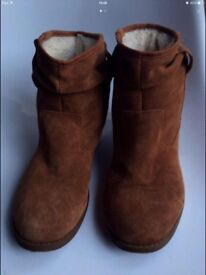As new faux suede boots size 8