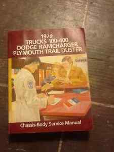 1979 Chassis-Body Service Manual Book