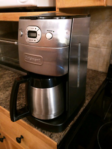 Cuisinart Stainless 10-Cup Coffee Maker with grinder