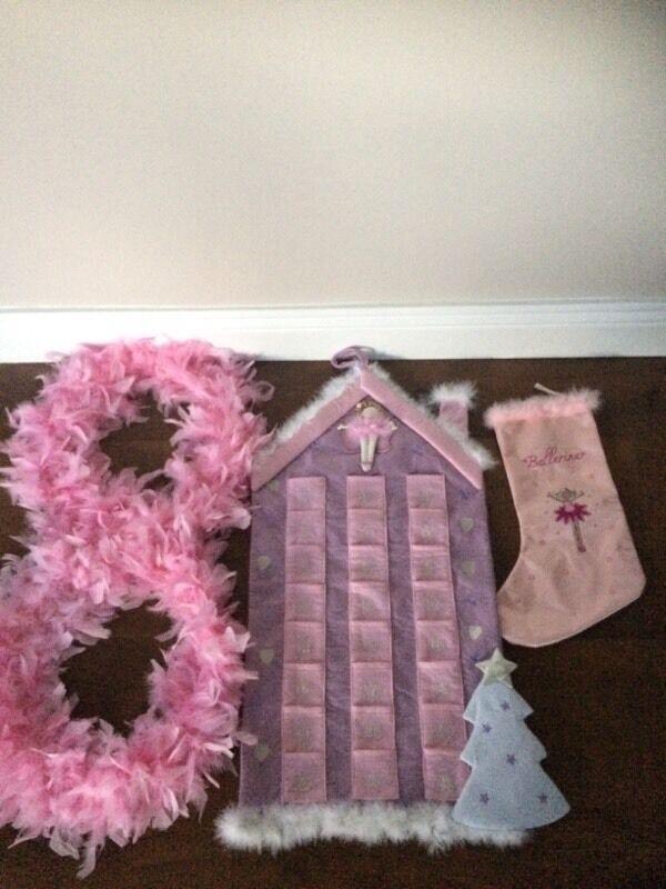 Pink girls advent calendar