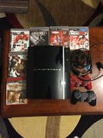PLAYSTATION 3 PS3 + 6 GAMES + 3 CONTROLLERS