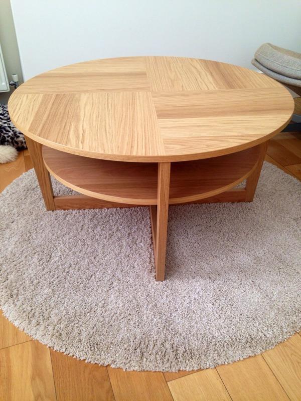 Ikea Coffee Table And Rug Round Ikea Oak Veneer VEJMON Coffee Table