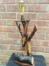 Vintage Antique Quirky 70s light table lamp