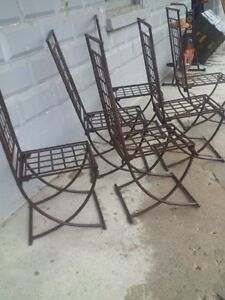 Unique steel rusted highback lawn chairs London Ontario image 3