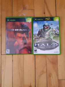 X Box 2 jeux ( Dead Or Alive 3 & Halo 1)