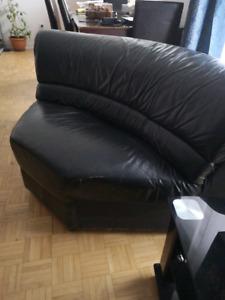 Corner Sofa LEATHER/ Sofa coin CUIR
