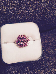Snowball of rubies dinner ring