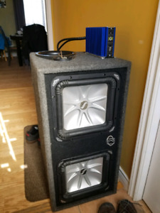 "Dual 12"" l5 kicker subwoofers in ported box"