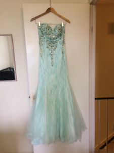 Jovani Light Blue Evening Mermaid Dress/Gown