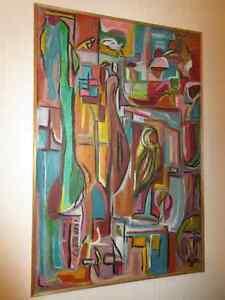 Tableau, art abstrait en acrylique, numéro 5