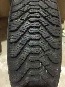 Two Goodyear Nordic 205/75R14 Winter Tires