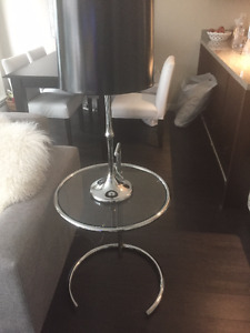 END TABLES GLASS AND CHROME