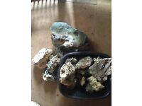 Ocean rock and others for fish tank