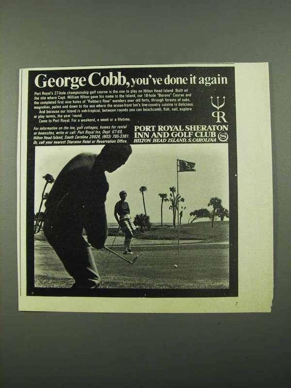 1969 Port Royal Sheraton Inn Ad - George Cobb