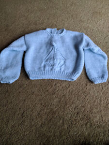 Sailboat Baby Boy Sweater