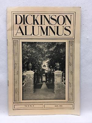 Dickinson Alumnus April 1931 Vol 8 No 3 President Filler Memorial Carlisle Pa