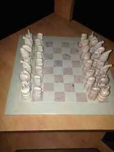 Beautiful Soapstone Chess Set