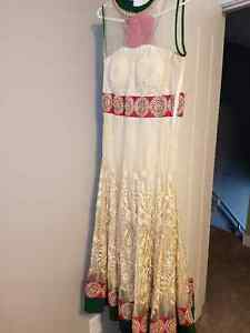 Beige floor length anarkali