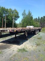 2X 2005 DELOUPE B-TRAIN 32+28 FLATBED