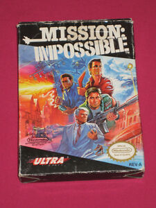 Mission: Impossible Nintendo NES Original Game With Box