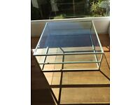 Vintage Heavy Glass Coffee table