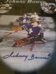 Johnny Bower Autographed Tribute w/ Certificate of Authenticity London Ontario image 1