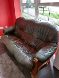 3 seater settee 2 seater and footstool