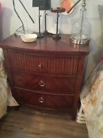 Brown Dresser and Nightstand