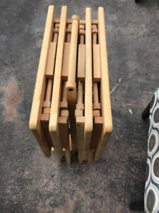 Set of 4 small table coffee table living room table 30$