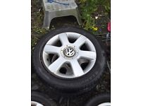 Golf Mk 5 alloys with tyres