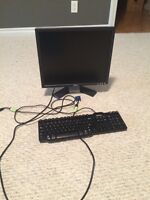 Dell monitor and keyboard perfect condition