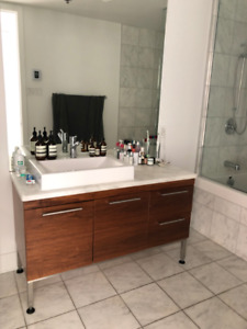Bathroom sink and marble counter
