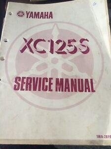1985 1986 Yamaha Factory XC125S Service Manual