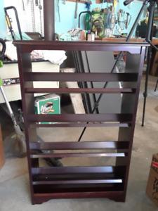 Wood CD/DVD rack