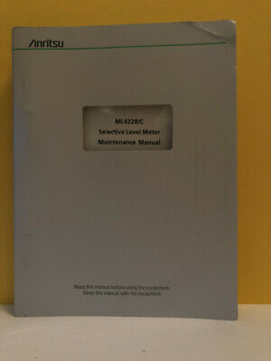 Anritsu M-w0206be-9.0 Ml422bc Selective Level Meter Maintenance Manual